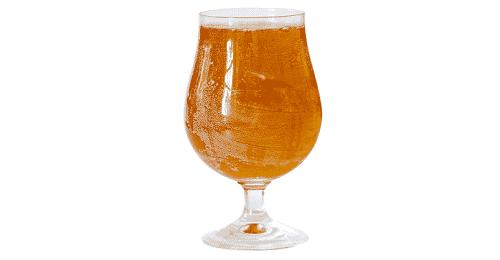 vaso de cerveza sucio