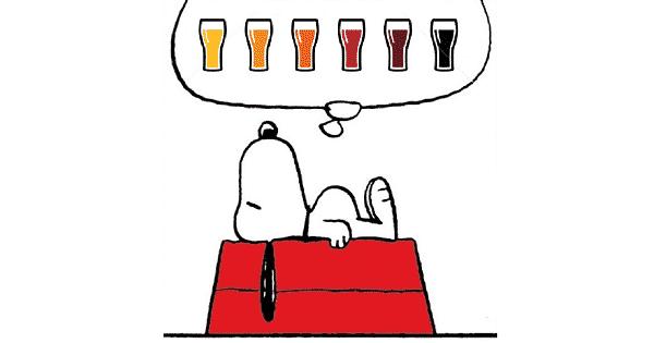Snoopy soñando con cerveza