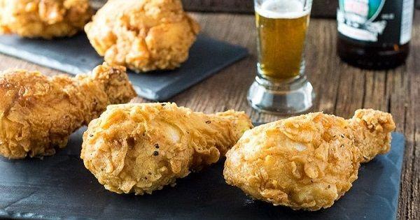 Pollo frito a la cerveza