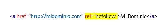 """Implementación del atributo HTML """"nofollow"""""""